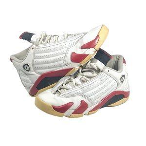Air Jordan 14 Retro OGs White/red shoe 312091 101